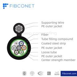Câble à fibre optique FTTH Outdoor GYTC8s tous les Figure 8 du connecteur de câble autoportant avec Fast