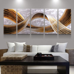 Het abstracte 3D Binnenlandse Decor van de Ambachten van de Kunst van de Muur van het Olieverfschilderij van het Metaal Met de hand gemaakte