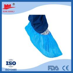 Elástico de alta calidad Nonwoven suministros quirúrgicos desechables Fecha de caducidad de dos años médico cubren zapatos