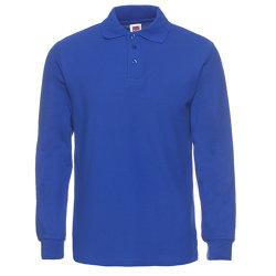 Logo personnalisé Bleu Polo Shirt à manches longues pour les hommes de la Chine