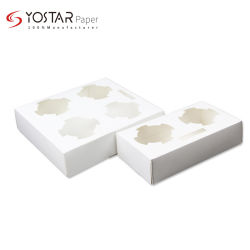 Nieuw model biologisch afbreekbaar kaartpakket voor etenswaren Koffiebekerhouder in 2 cellen en 4 cellen, doos op maat