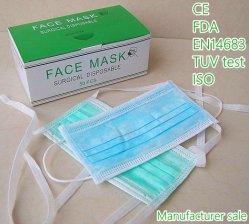 Tirante Earloop descartáveis médicos sobre a máscara facial com marcação EN14683