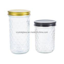 [15وز] [20وز] [مسن جر] زجاجيّة مع غطاء لأنّ ثمرة تشويش مربّى تعليب مع يزيّن سطح