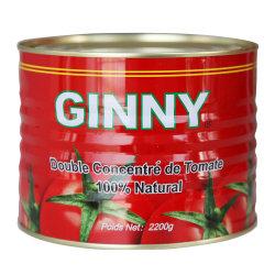 معجون الطماطم معبأ 2،2 كجم من صلصة الطماطم عالية الجودة 22-24%