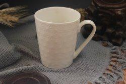 Usine de gros de tasse de café en porcelaine céramique tasse de thé gaufré défini