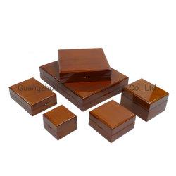 Acabamentos de luxo sólido laca de Embalagens de madeira Caixa de jóias por grosso