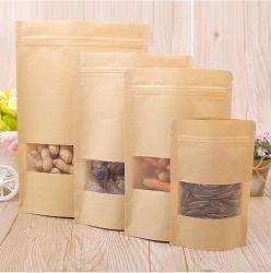De dunne Verpakkende Zakken van het Document van Kraftpapier voor de Verpakking van het Voedsel
