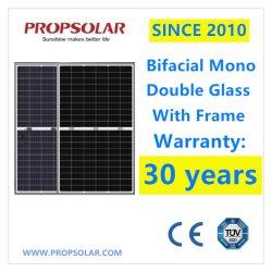 30 años de garantía transparente de vidrio doble Bifacial PV monocristalino 320 W Paneles Solares Chinos Precio