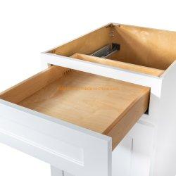 Klassische amerikanische weiße Schüttel-Apparatküchecabinetry-Möbel mit Wein-Schrank
