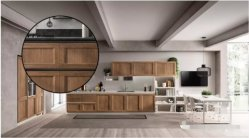 eine neues Projekt-stilvolle festes Holz-Küche-Schränke mit elektrischen Zug-Körben