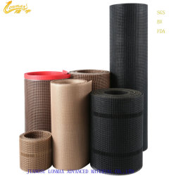 China-Fabrik-Qualität PTFE beschichtete das Fiberglas-Gewebe-geöffnete Ineinander greifen, das in trocknender Maschine verwendet wurde