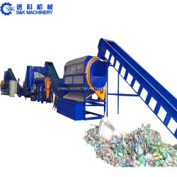 Große Geschwindigkeit entwässern Maschinen-Haustier-Flaschen-Film-Wäsche-Getränkeflaschen-Abfallverwertungsanlage