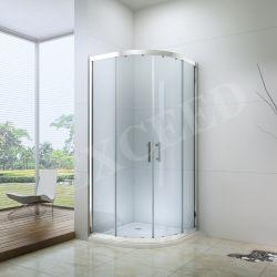 الحمام الكلاسيكى كبائن كابينة منزلقة مزدوجة الباب ذو زجاج مقسّى بسيط حمام قطاع (EX-503)