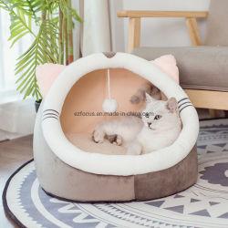 Acogedora Casa Gato cama mascota, perro suave Sofá Cat Accesorios lindo gatito Mat cama Cueva de los gatos de lana Saco de dormir durante toda la temporada cálida Gato como mascota Tienda Esg12807