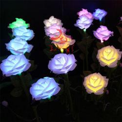 다채로운 색상의 맞춤형 LED 조명 공원 장식에 필요한 인공 꽃