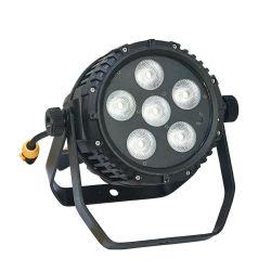 방수 LED PAR Light 6X10W RGBWA + UV 6in1 무선 및 배터리 전원