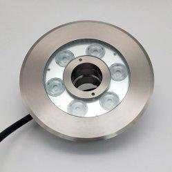 IP68 24W en acier inoxydable 304 LED RGBW Fontaine sous-marin de la lumière avec anneau de buse