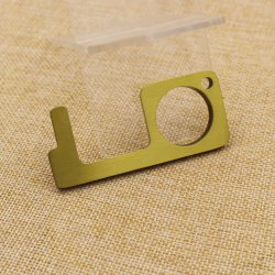 شعار مخصص لا تعمل باللمس شاشة اللمس العامة مفتاح تنظيف المعدن