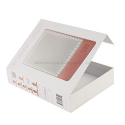 Qualitäts-dekoratives magnetisches nahes hartes Mattshirt-verpackender weißes Spitzenkappen-Kippen-geöffneter Geschenk-Papierkasten