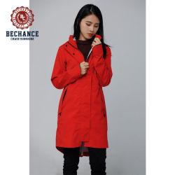 防水性と通気性を備えた屋外ウィンドブレーカーフードジャケット(ウィメンズ) 春の夏と秋には布地を使用