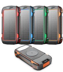 شاحن QC3.0 Qi لاسلكي سريع بقدرة 200 مللي أمبير/ساعة للهاتف الخلوي الشمسي محمول
