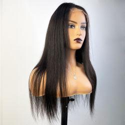 Mayorista Angelbella 5X5 HD Lace Front Toupees combinación Remy peluca cabello humano.