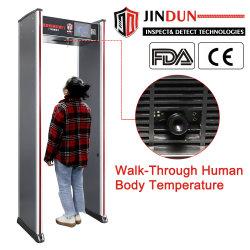 Прогулка через температура тела Термическое изображение лихорадки Обнаружение инфракрасного термометра