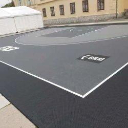 أرضية رياضية خارجية متداخلة مطاطية لكرة السلة كرة السلة البلاط البلاط