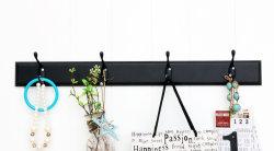 Collante in tessuto di legno con 4 ganci 50.5X10X7.5cm Bianco decorazione domestica Artigianato, decorazione domestica, decorazione domestica, Arte di legno, Arte della parete