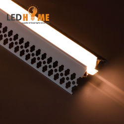 Perfil de pared de aluminio Perfil de la esquina se iluminan en la esquina