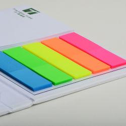 Unionpromo kundenspezifisches Firmenzeichen-bunte klebrige Anmerkung und Markierungsfahnen-Schreibtisch-Set