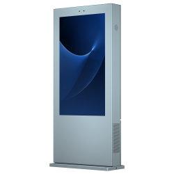 エアコン縦スクリーンの床の屋外広告機械65インチの接触壁の台紙媒体の表示LCD広告のDisplayer完全なHD LCDのモニタLEDデジタル