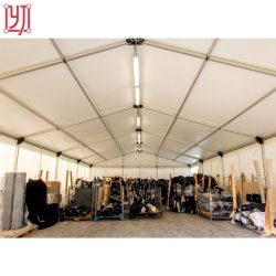 هيكل خيمة تخزين مؤقت من الألومنيوم 25×30 م خلال فترات العمل