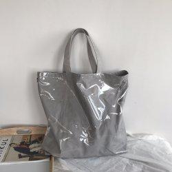 캔버스 쇼핑 백 PVC 투명 이중 투명 백 방수 인과 어깨 가방 메신저 핸드백
