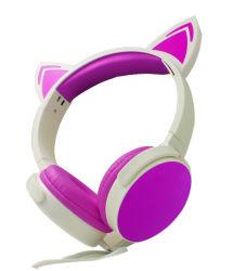 Nuovo trasduttore auricolare lucido del telefono mobile della cuffia del microfono di arrivo LED con il Mic