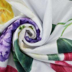 100% Polyester nieuwe aankomst Maatwerk Printed Minky Fabric pluche Groothandel Voor babydeken