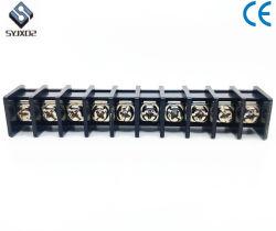 黒9.5mm 9wayワイヤーコネクターのねじ込み端子の障壁のブロック25A 300V