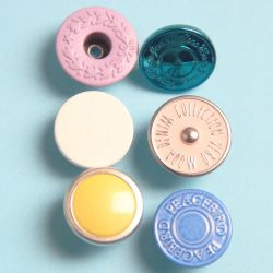 Luxuxmetallschaft-sammelbare Kokosnuss-Tasten für Jeans