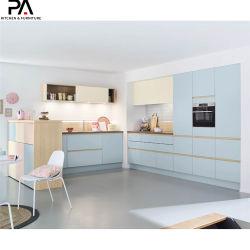 Mobilia Mixed della cucina di disegno di legno contemporaneo della famiglia nuova
