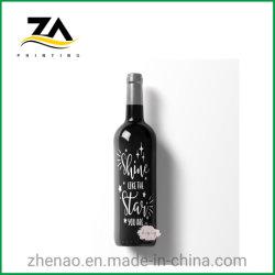 Kundenspezifischer Entwurf gedruckter Wein-Firmenzeichen-Wein-Flaschen-Aufkleber, Kennsatz-Drucken