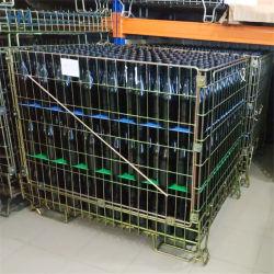 Vin de stockage portable soudée durable Wire Mesh Bin Boîte en métal