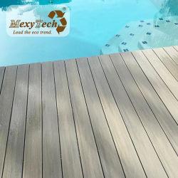 حوض سباحة مصنوع من البلاستيك مصنوع من خشب الخشاب مقاوم للمياه مزود بمنصة قابلة للطي من طراز WPC