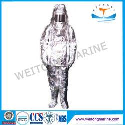 Résistance chimique marine La protection thermique aluminisé Costume d'incendie