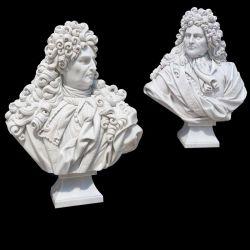 Busto de mármol blanco de tallado de piedra para la decoración del hogar