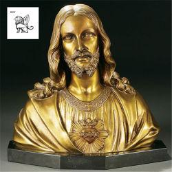O bronze famosos religiosa Santa Sé Coração de Jesus no busto Estatua Escultura Bsg-203