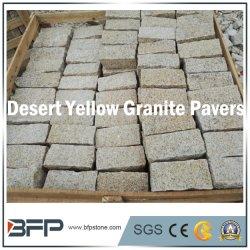 金花こう岩-黄色い中国のペーバーの石、柵、景色の建築材