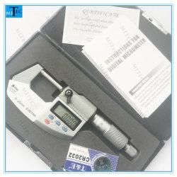 """Fábrica de China 0-1"""" Prueba de agua IP65 caja de metal fuera electrónico digital micrómetro Digimatic"""