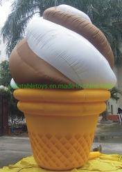 Grand modèle de crème glacée gonflable Candy Shop Décoration Inflatable cornet de crème glacée