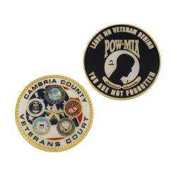 Défi sportif personnalisé de haute qualité Coin Souvenirs Boîte métal sac à main