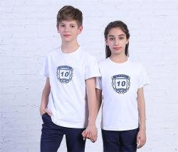 Kundenspezifisches Schuluniform-Kurzschluss-Hülsen-Kind-T-Shirt